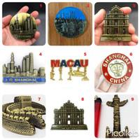 Souvenir Fridge Magnet Kulkas Negara China Cina Beijing Shanghai Macau