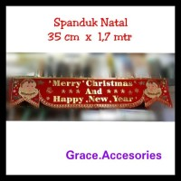 Best Pirice!!! Hiasan Spanduk Banner Tulisan Merry Christmas Natal