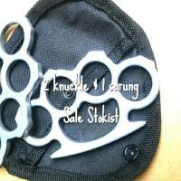 Brass knuckle sepasang knuckles dan sarung dompet