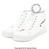 Sepatu Wanita MIAW CASUAL REALPICT Sneakers Salem Putih LUCU NYAMAN