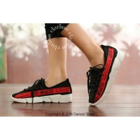 Sepatu Wanita OFF-WHITE REALPICT Sneakers Salem Hitam Putih Casual