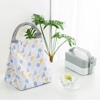 Lunch bag waterproof GEO SHAPE / tas bekal panas & dingin VELCRO