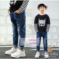 MJ Black Mask Boy Set / baju set anak laki-laki