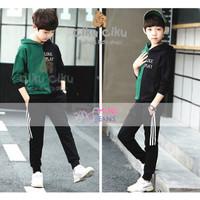 MJ Black Green Boy Set / baju set anak laki-laki