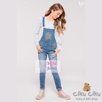 MJ Flower Top + Overall Girl Set / baju set anak perempuan