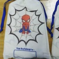 Tas Pouch Totebag Backpack Ransel Belacu Blacu - Spiderman Marvel