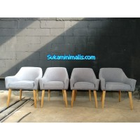 Kursi sofa retro grey (custom sofa jepara)