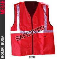 Rompi Busa 2 Kantong Tebal Scotlight Safety Proyek Halang Angin Merah