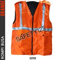 Rompi Busa 2 Kantong Tebal Safety Motor Bangunan Scotlight Orange