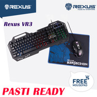 Rexus VR3 Combo Keyboard Mouse Gaming Warfaction