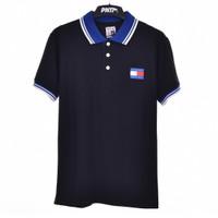 ZWART BLAUW / Men Polo Shirt Black - Premium Nation Original