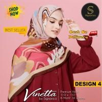 Jilbab Segiempat Vinetta Premium Voal Design 4 By Signarica - Hijab