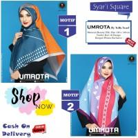 Jilbab Segi Empat Syari Umrota Motif by Yeffa Scarf - Kerudung Hijab