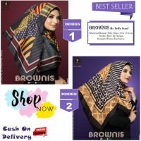 Jilbab Segi Empat Brownis Design 1 S/D 10 by Yeffa Scarf - Hijab Murah