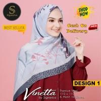 Jilbab Segiempat Vinetta Premium Voal Design 1 By Signarica - Hijab