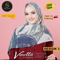 Jilbab Segiempat Vinetta Premium Voal Design 3 By Signarica - Hijab