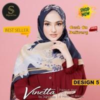 Jilbab Segiempat Vinetta Premium Voal Design 5 By Signarica - Hijab