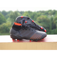 Sepatu Bola Predator 19.1 Core Black Red FG Replika Impor