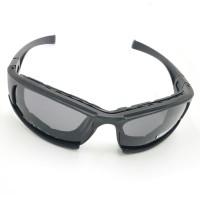 Daisy X7 Kacamata Sepeda dengan 4 Lensa - Black