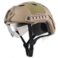 Helm Tactical Airsoft Gun - Brown
