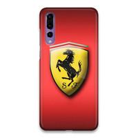 Indocustomcase Ferrari Logo Hard Case Cover For Huawei P20 Pro