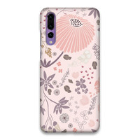 Field of Flowers in Pink and Purple Hard Case Cover For Huawei P20 Pro