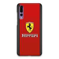 Indocustomcase Ferrari Logo SC Hard Case Cover For Huawei P20 Pro