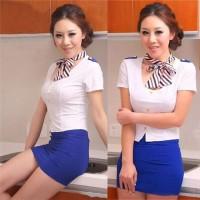 Lingerie Set Stewardess Costume Pramugari Kostum A237