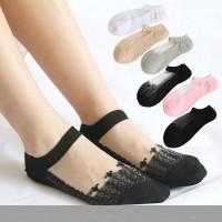 kaos kaki sexy Lace Wanita renda transparan Bordir socks 08S#