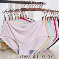 Celana Dalam Wanita Seamless Panties lingerie Bahan ice Silk c052-1