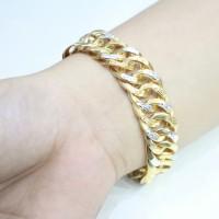 gelang emas sisik naga kopong original