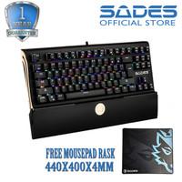 Sades Shield RGB Mechanical TKL Gaming Keyboard
