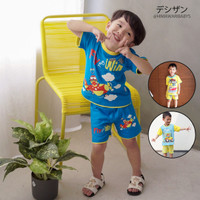 Baju Setelan Anak Laki-Laki Dessan Transport 4