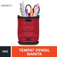 Exsport Mesh Pencil Case - Red