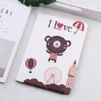 Fashion Book Cover New IPad 6 2018 9.7'' I LOVE BEAR Stand case