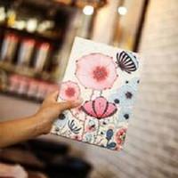 Fashion Book Cover iPad Mini 4 PARIS FLOWER Stand case