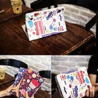 Fashion Book Cover New IPad 6 2018 9.7'' PARIS FLOWER Stand case