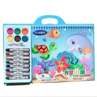 Mainan mewarnai set anak, Buku menggambar mewarnai set anak dengan c