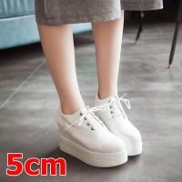 recommended casual sepatu kerja 5cm poxing putih tali sekolah wanita w