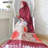 Gamis / Baju / Setelan Wanita Muslim Velvi Syari   Hijab Real Pic (1)