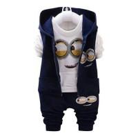 Pakaian / Baju Setelan Anak Rompi 3in1