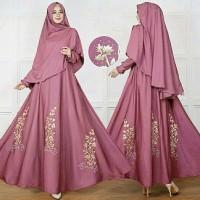 Gamis / Baju / Pakaian Wanita Muslim Zanet Syari 2in1 Good Quality