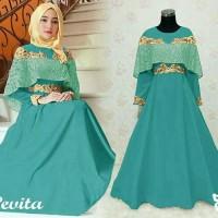 Gamis / Maxi / Baju / Dress Pesta Wanita Muslim Pevita bordir