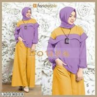 Gamis / Baju / Pakaian wanita Muslim Loura Syari