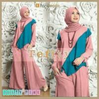 Gamis / Baju Wanita Muslim Tefity 3in1 Syari