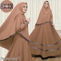 Gamis / Baju / Pakaian Wanita Muslim Anisa Syari list Songket   Hijab