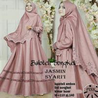 Gamis / Baju Setelan Wanita Muslim Jasmin syari Good Quality   jilbab