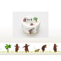 MTEX1P73 (30mm) kasaneru - bear & squirrel