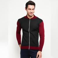 VM Sweater Rajut Sleting Hitam - KSP-Hitam