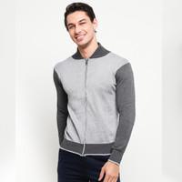 VM Sweater Rajut Sleting Abu Muda - KSP-ABUMUDA